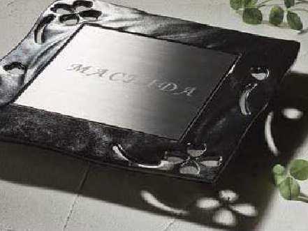 鋳物ステンレスサインTOEX
