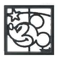 ディズニーブロック飾りミッキーD型