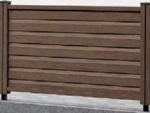 木樹脂フェンス3型ルーバー